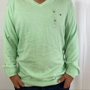 Tommy Hilfiger Classic V Neck Sweater Cotton